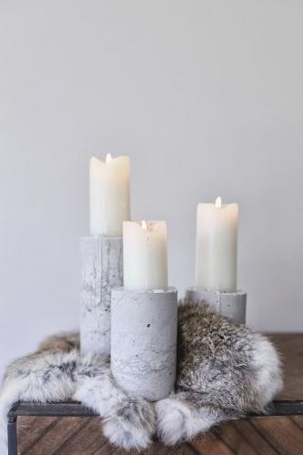 bougies marbre