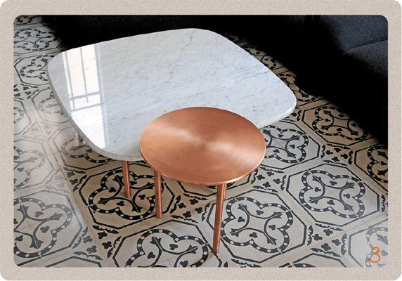marbre et cuivre