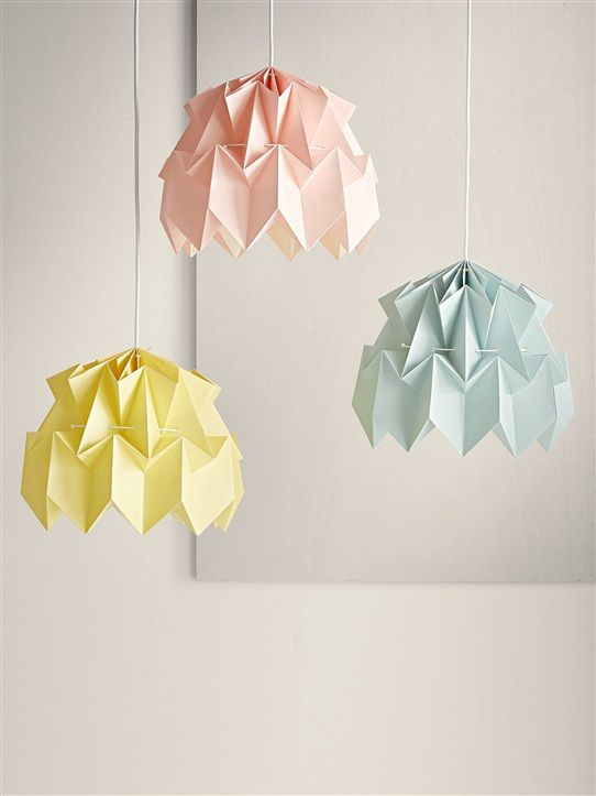 suspension origami pastel