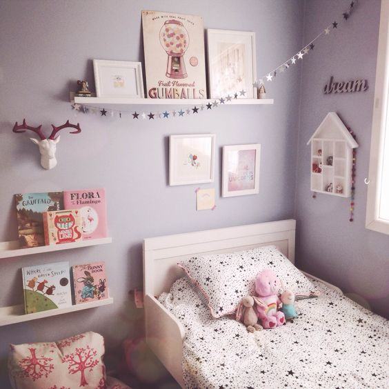 soft purple bedroom chambre d enfant monochrome mode d emploi jool 13364