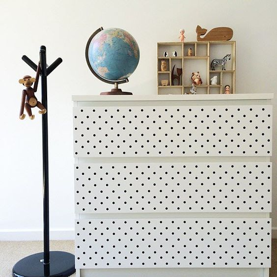 commode-ikea-dots-noir