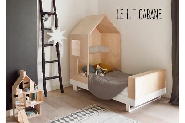 Lit cabane le r ve des lutins mama jool - Cabane bebe interieur ...