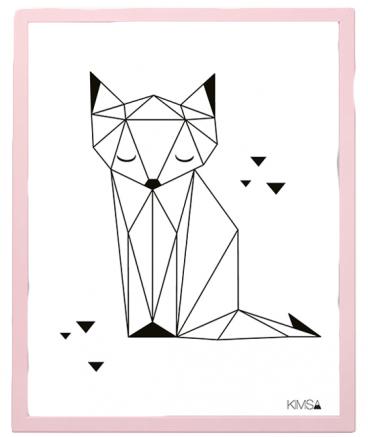 poster-geometrique-noir-blanc-renard-lilipinso