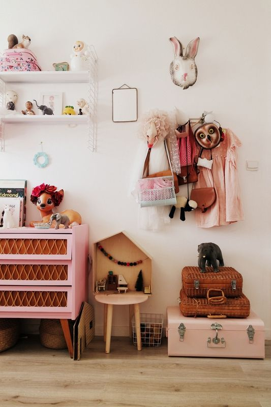 chambre-fille-vintage