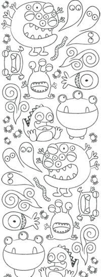 papier-peint-a-colorier-monstres