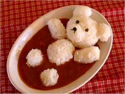 repas-enfant-ourson-riz