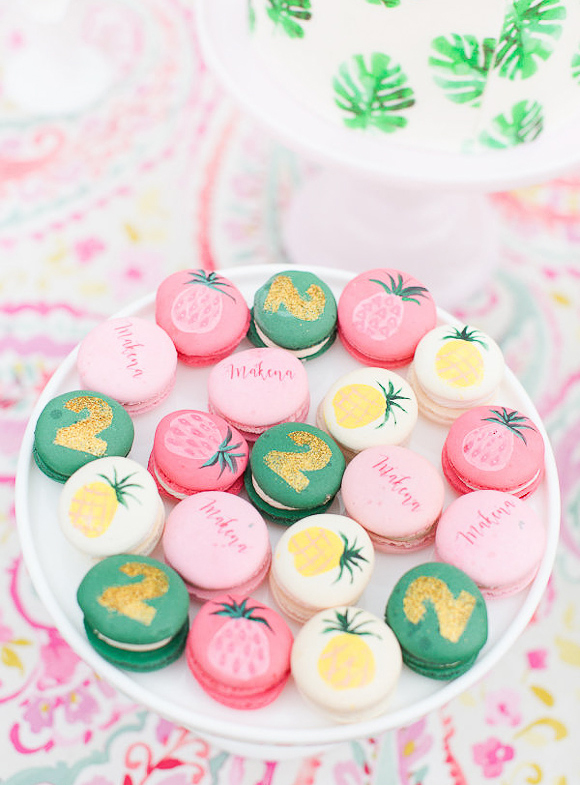 flamingoparty-details-macarons